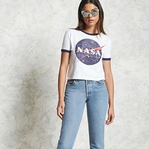 NWOT Forever 21 NASA Crop Top Size Small